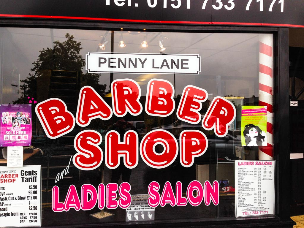 Penny Lane, Barber Shop, Liverpool