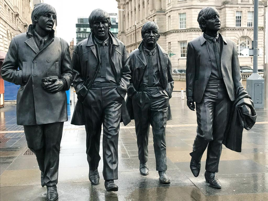Estatua de los Beatle en Liverpool