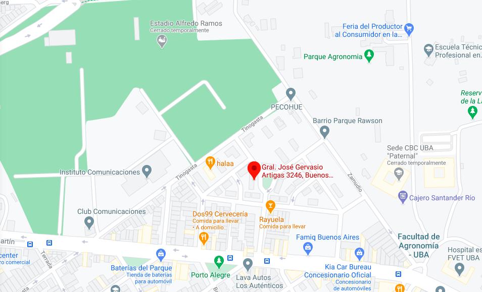 Barrio Rawson, mapa