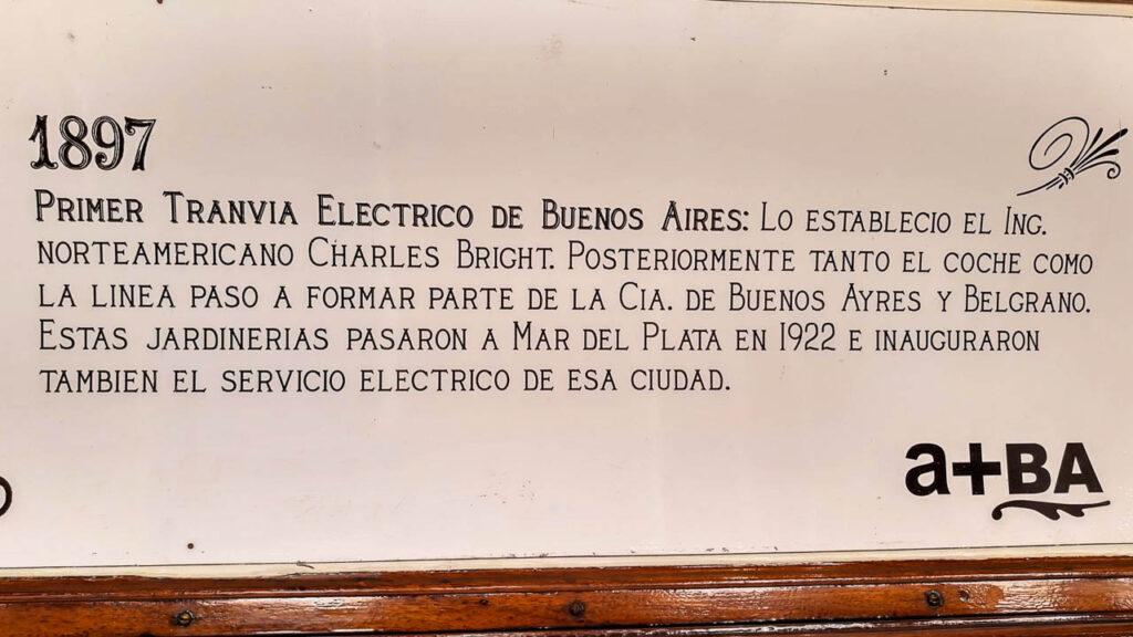PRIMER TRANVÍA ELÉCTRICO DE Buenos Aires