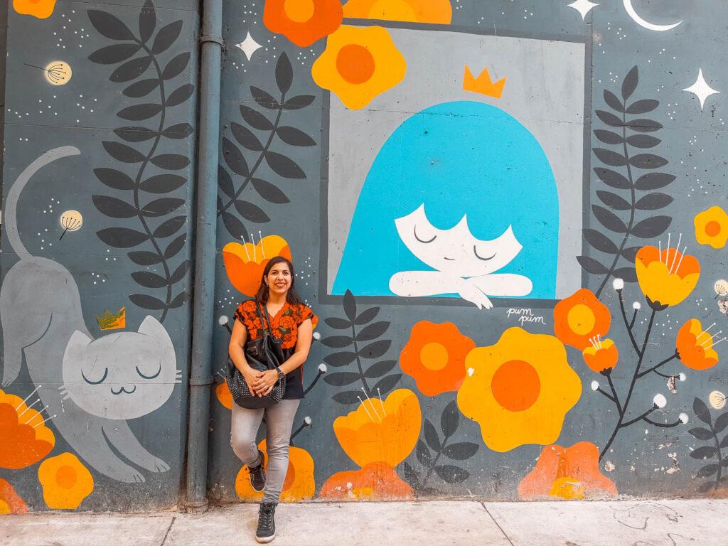 """""""Ventana al Jardin"""" de Pum Pum en el Mercado de las pulgas de Colegiales, Buenos Aires"""