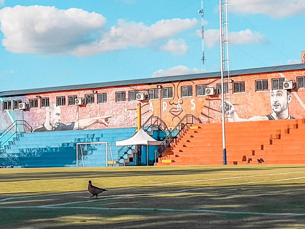 Polideportivo Colegiales y murales