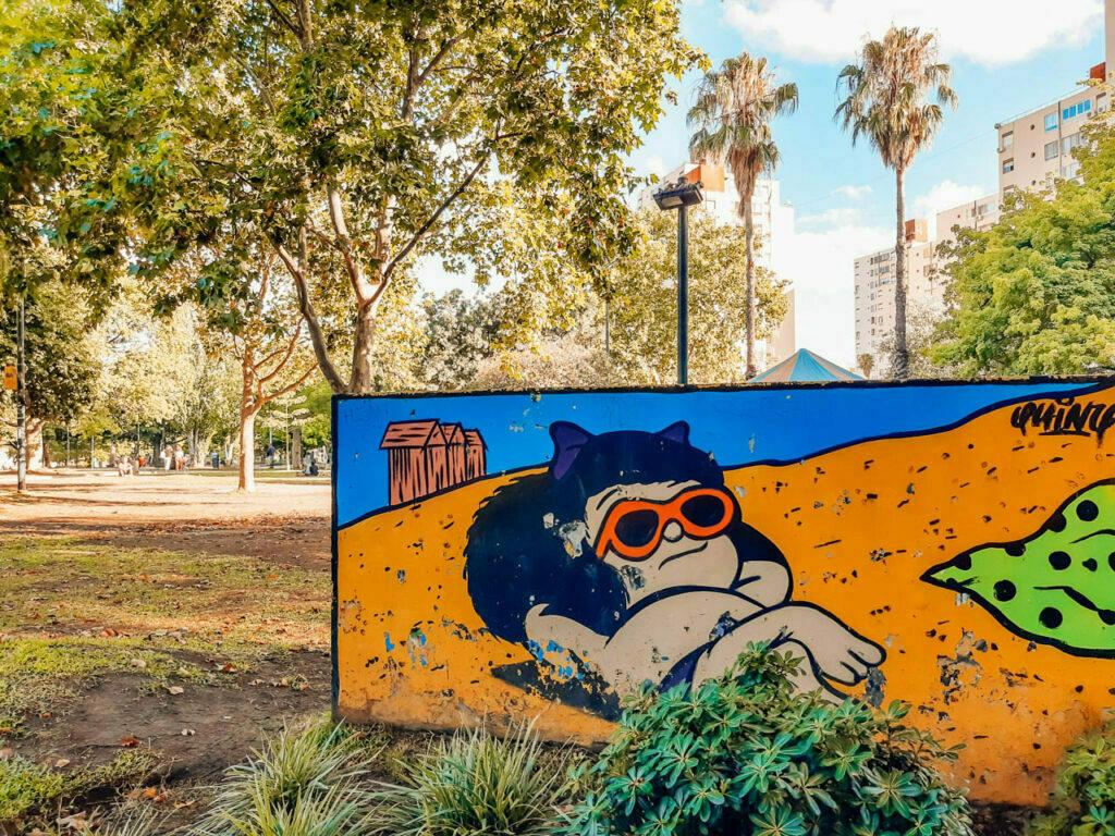 plaza Mafalda y el street art de Colegiales