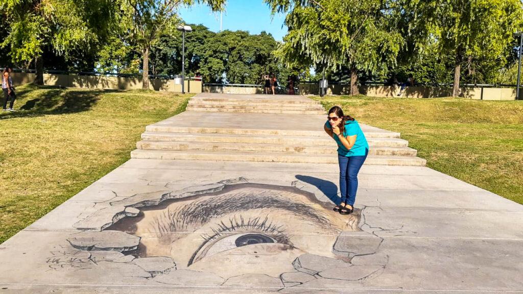 Murales 3D en los espacios verdes de Puerto Madero