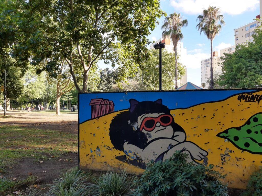 Plaza Mafalda en el corazón de Colegiales